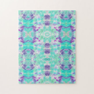 A abstract teal paper grunge watercolor Pattern. Jigsaw Puzzle
