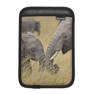 A African Elephant grazing in the fields of the Sleeve For iPad Mini