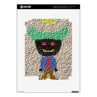A Alien person Decals For iPad 3