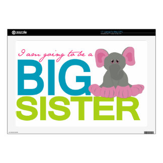 A am going to be a big Sister Elephant Decals For Laptops