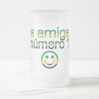 A Amiga Número 1 in Brazilian Flag Colors 4 Girls Mug