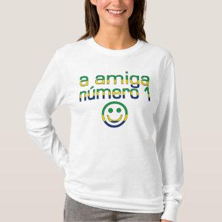 A Amiga Número 1 in Brazilian Flag Colors 4 Girls T-Shirt