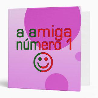 A Amiga Número 1 in Portuguese Flag Colors 4 Girls 3 Ring Binder