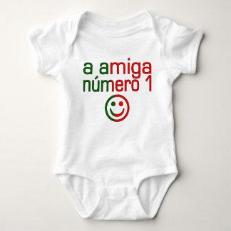A Amiga Número 1 in Portuguese Flag Colors 4 Girls Baby Bodysuit