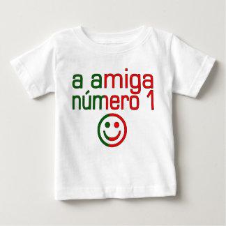 A Amiga Número 1 in Portuguese Flag Colors 4 Girls Baby T-Shirt