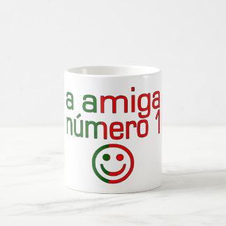 A Amiga Número 1 in Portuguese Flag Colors 4 Girls Mugs