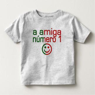 A Amiga Número 1 in Portuguese Flag Colors 4 Girls Toddler T-shirt