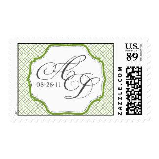 A and D vintage monogram stamp