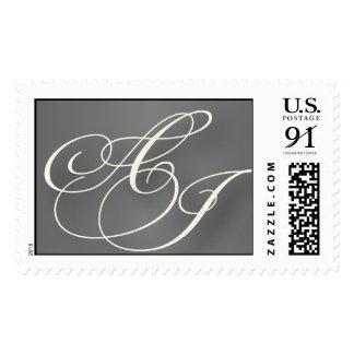 A and J Wedding Monogram stamp