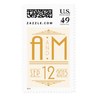 A and M monogram Postage Stamps
