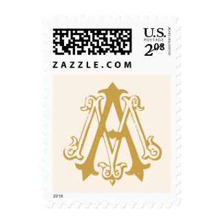 A and M monogram stamp