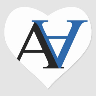 A and N graphic Heart Sticker
