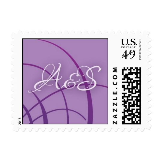 A and S monogram Postage