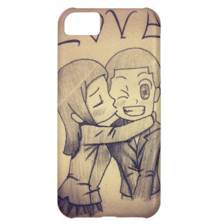 a anime drawing, love iPhone 5C case