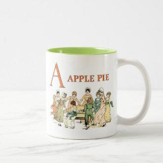 A Apple Pie: Apple Pie Two-Tone Coffee Mug