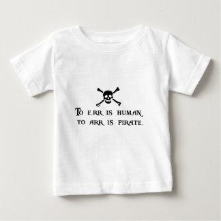 A Arr es el pirata Playera De Bebé