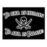 ¡A Arr es el pirata! Tarjeta Postal