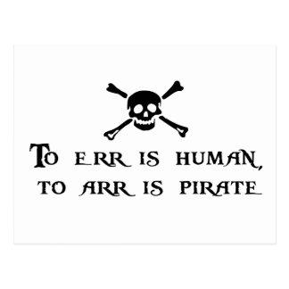 A Arr es el pirata Tarjeta Postal