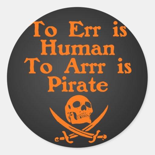A Arrr son los pegatinas del pirata Pegatinas Redondas