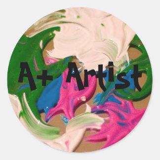 A+ artist stickers