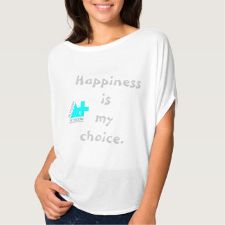 A+ Autism Plus UK Batwing Happiness ladies top