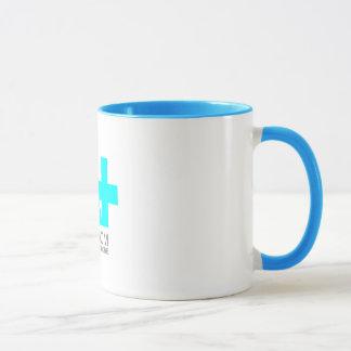 A+ Autism Plus UK Classic Logo Mug with blue ring