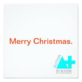 A+ Autism Plus UK Minimalist Christmas Card