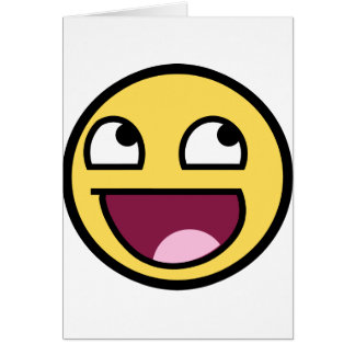 A AWESOME SMILEY FACE PRODUCT CARD