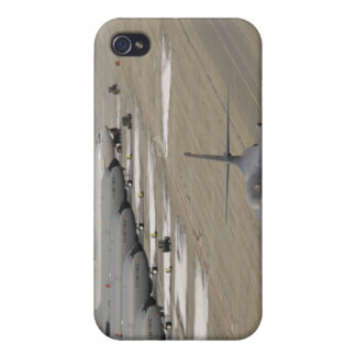 A B-1B Lancer arrives at Eielson Air Force Base iPhone 4 Cases