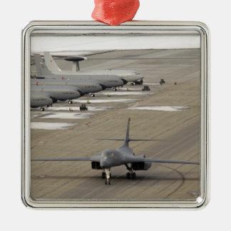 A B-1B Lancer arrives at Eielson Air Force Base Metal Ornament