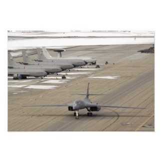 A B-1B Lancer arrives at Eielson Air Force Base Photo Print