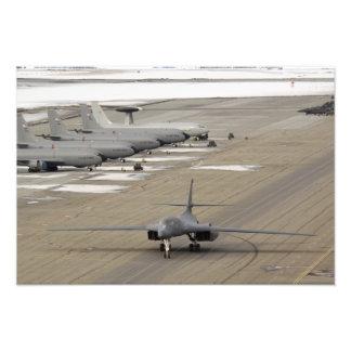 A B-1B Lancer arrives at Eielson Air Force Base Photo Print