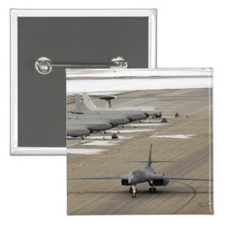 A B-1B Lancer arrives at Eielson Air Force Base Pinback Button