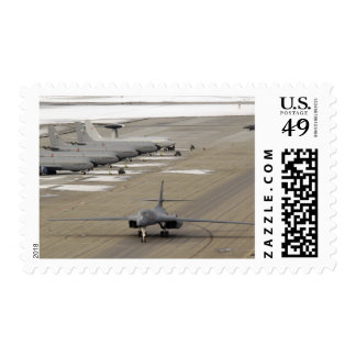 A B-1B Lancer arrives at Eielson Air Force Base Postage Stamps