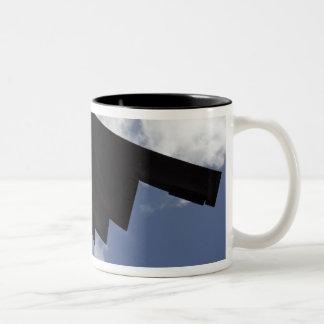 A B-2 Spirit in flight Two-Tone Coffee Mug