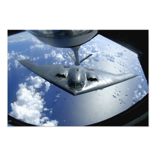 A B-2 Spirit moves into position for refueling Photo Print