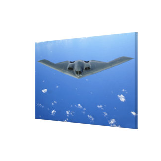 A B-2 Spirit soars through the sky Gallery Wrap Canvas