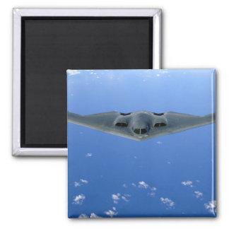 A B-2 Spirit soars through the sky Magnet