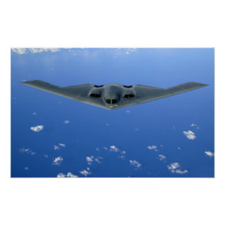 A B-2 Spirit soars through the sky Poster