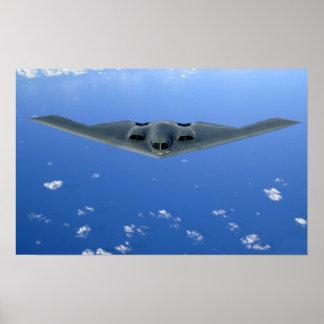 A B-2 Spirit soars through the sky Poster