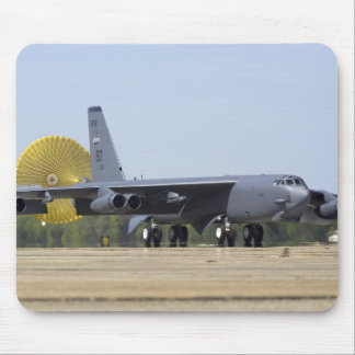 A B-52 Stratofortress deploys its drag chute Mouse Pad