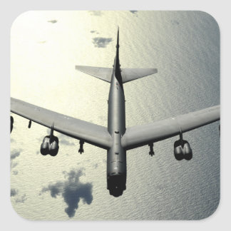 A B-52 Stratofortress in flight 2 Square Sticker