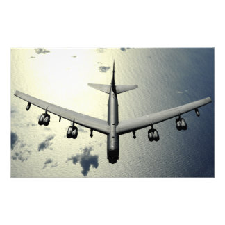 A B-52 Stratofortress in flight Photo Print