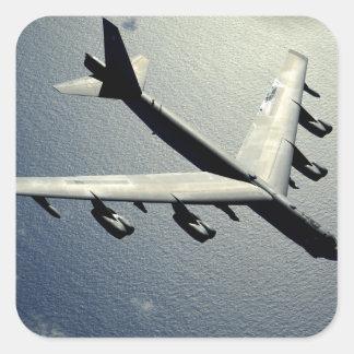 A B-52 Stratofortress in flight Square Sticker