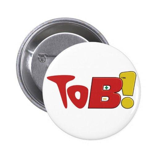 ¡A B! Botón - rojo Pins