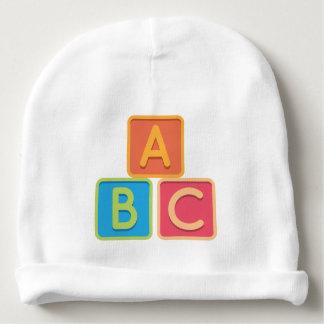 A B C Alphabet Blocks Baby Beanie Hat