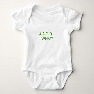 A B C D....   WHAT? INFANT CREEPER