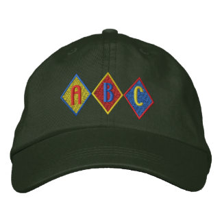 A B C EMBROIDERED HAT