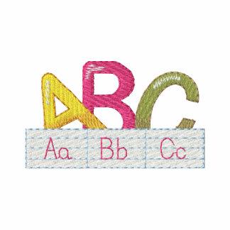 A B C EMBROIDERED POLO SHIRT