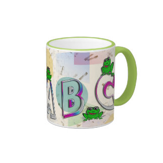 A b c taza de dos colores